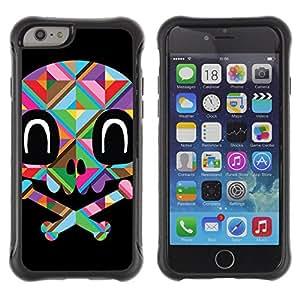 ZAKO Cases / Apple Iphone 6 PLUS 5.5 / Cute Color Skull / Robusto Prueba de choques Caso Billetera cubierta Shell Armor Funda Case Cover Slim Armor