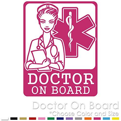 SL-03 Doctor On Board EMS Star of Life Vinyl Decal Sticker