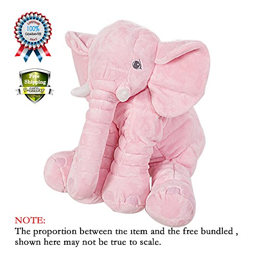 Sealive Fashion Baby Animal Elephant Style Doll Stuffed Elephant Plush Pillow Kids Toy for Children Room Bed Decoration Toys,For 1-10 Years Baby Todllers