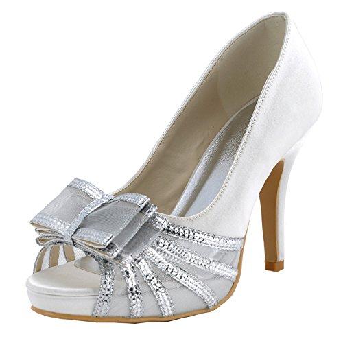 Blanc 10cm Escarpins Minitoo Femme Heel Pour White w4n7F