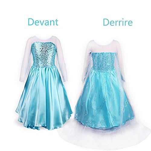 Cutehill Disfraz De Elsa De Frozen Para Niñas Corona