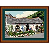 Brigantia Needlework Boscastle Gift Shop Tapestry Picture Kit in Tent Stitch