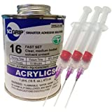 Weld-On 16 Acrylic Adhesive - Pint and 3 Pack of Weld-on 16-Gauge Precision Syringe Applicator
