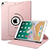 (US) Fintie iPad Pro 10.5 Case with Built-in Apple Pencil Holder - 360 Degree Rotating Stand Protective Cover with Auto Sleep / Wake Feature for Apple iPad Pro 10.5 Inch 2017 Release, Rose Gold