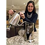 "Gorgeous [8 Cup] French Press Coffee Maker & Tea Maker (34 Oz) - Best Café Press Pot with 18/8 Grade Stainless Steel & No-Shatter Borosilicate Glass - Drink the Perfect Cafetiere Cuppa Every Time! 14 BLACK FRIDAY SUPER SALE COUPON - Want to save an EXTRA 10% TODAY Only? Use Coupon at checkout: LLPRIME1. Limited Stock! Expires Today! SKIP THE CAFÉ - OUR PATENTED SYSTEM IS 100 TIMES BETTER: Did you know that the IDEAL French press with the PERFECTLY SIZED micro filter actually UNLOCKS FLAVORS you've never tasted before? AROMAS you'll only find in a European Café? And the happiness only the perfect cuppa brings? Yeah, it's like that... 4 MINUTES - IMAGINE IF YOU COULD GET THE PERFECT CUPPA FASTER than your Barista could make it! If you're looking for a barista quality French press coffee maker that's actually FASTER than standing in line at you know where, then you'll love how our RAPID RELEASE stainless steel French Coffee press microfilter and plunger system delivers you SMOOTH, CREAMY COFFEE in 4 minutes or less! PICS DON'T DO IT JUSTICE! Stunning and sleek in design, this will have you (or your beloved gifted) saying ""OOOOH LA LA GORGEOUS!"" Every detail is accounted - from the COOLTouch handle to the LUSTROUS 18/8 CHROME STAINLESS STEEL to the curvaceous design, to the sparkling borosilicate glass - it's a VISION to behold."