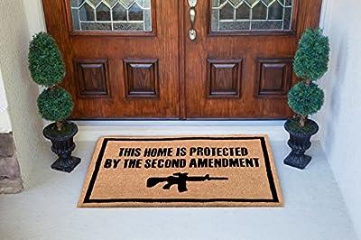Freedom & Company - Second Amendment Doormat 100% All Natural Fibers Coir -Eco-friendly