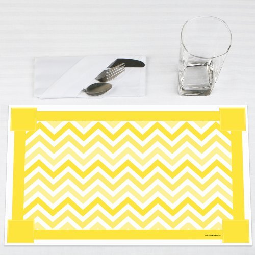 Chevron-Yellow-Party-Placemats-Set-of-12