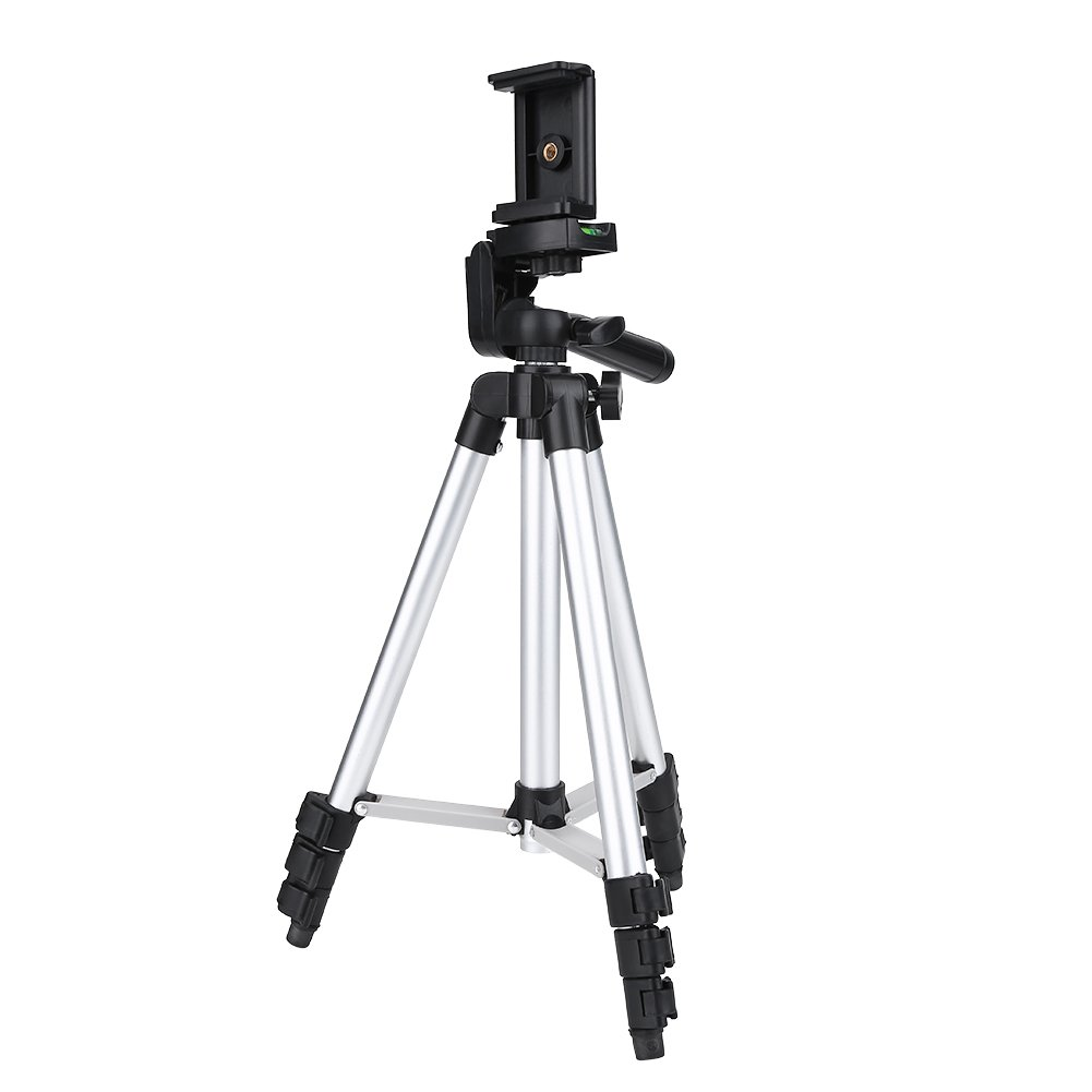 Acouto Camera Tripod, Laptop Compact Tripod Photo Tripod Light Travel Tripod Aluminum Alloy Non-Slip Cargo 2KG with Scalable Frying Head for Camcorders & DSLR Camera