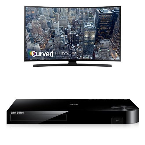 Samsung UN55JU6700 Curved 55-Inch TV with BD-H6500 Blu-ray Player