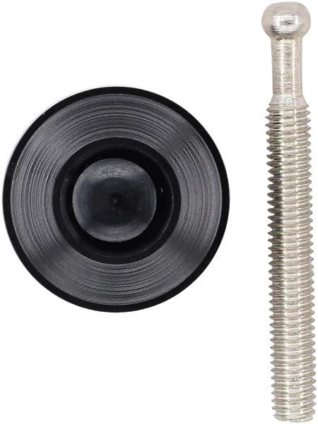 XtremeAmazing 1.25 Universal Quick Latch Bumper Release Fastener Push Button Billet Hood Pins Lock Clip Kit 54mm Black
