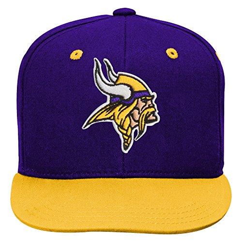 L Minnesota Vikings Kids 2-Tone Flat Visor Snapback Hat Regal Purple, Kids One Size ()