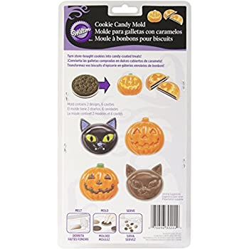 Wilton 2115-0222 Halloween Cat, Pumpkin, Candy Cookie Mold