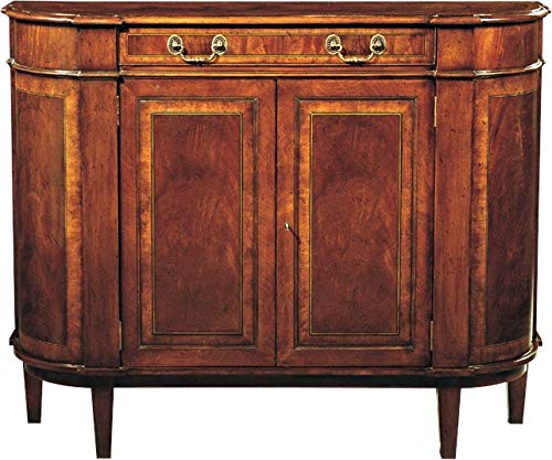 Scarborough House Chiffonier Chest Crotch Mahogany Curved Front Brass