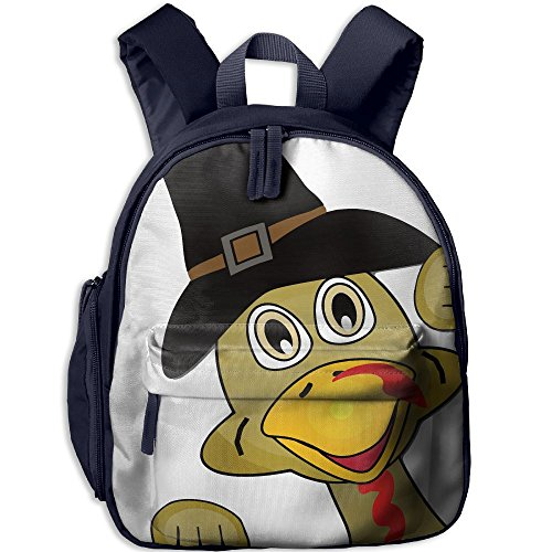 MingDe YY Full Thanksgiving Turkey Face Printed Child Shoulders Bag Kids School Bag Backpack With A Pocket