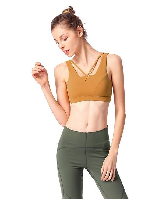 Mujer Sujetador Deportivo Yoga Cruzados Strappy Copa Extraíbles para Yoga Gimnasio Aptitud Fitness: Amazon.es: Ropa y accesorios