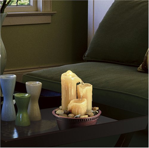 HoMedics WFL-CAN32 EnviraScape Shimmering Towers Illuminated Relaxation Fountain