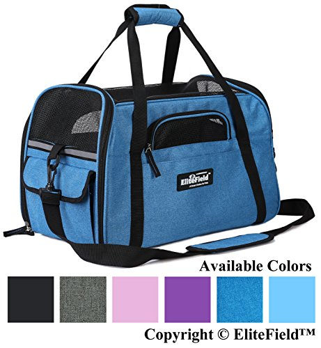 (EliteField Soft Sided Pet Carrier (3 Year Warranty, Airline Approved), Multiple Sizes and Colors Available (Medium: 17