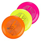 Bolt OneSevenFive Ultimate Frisbee Flying Disc! Loads of UV Colours Available! (UV Yellow)