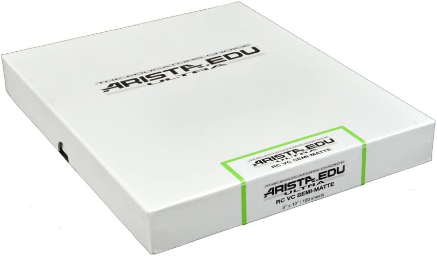 Arista EDU Ultra VC RC Black /& White Photographic Paper Semi-Matte 8x10 250 Sheets
