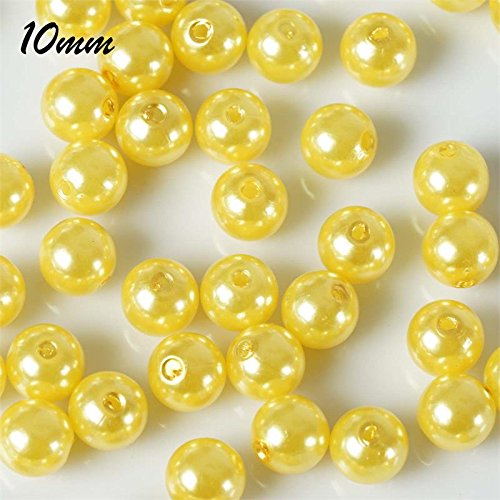 Yellow Faux Pearl - BalsaCircle 10 mm or 0.39
