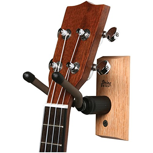 String Swing Mandolin (String Swing CC01UK-O Hardwood Home & Studio Wall Mount Ukulele Hanger or Mandolin Hanger - Oak)