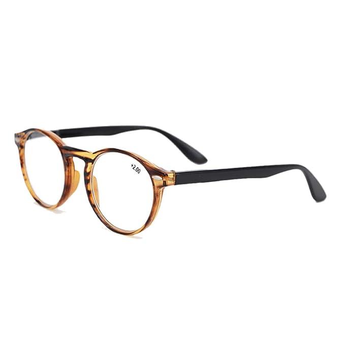 fe715db975 Inlefen Gafas de lectura redondas retro para hombres y mujeres Gafas de  moda para lectura +1.0 a +3.5: Amazon.es: Ropa y accesorios