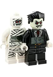 LEGO Kids' 9009914 Monster Fighters Lord Vampire and Mummy Minifigure Clocks 2 Pack