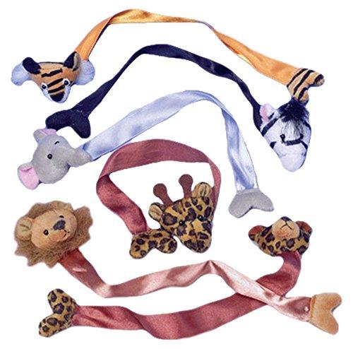U.S. Toy 1461 Wild Animal Plush Bookmarks