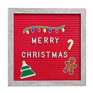 Kate & Milo Letterboard and Holiday Stickers, Perfect Message Board for a Christmas Countdown or Baby Announcement, Red
