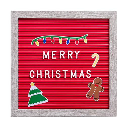 Kate & Milo Letter Board and Holiday Stickers, Perfect Message Board for a Christmas Countdown or Baby Announcement, Red