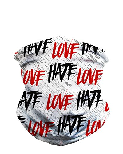 iHeartRaves Love Hate Seamless Mask Rave - Ski Masks Uk