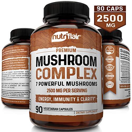 NutriFlair Mushroom Supplement 2500mg Mushrooms product image