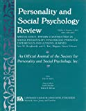 An Official Journal of the Society for Personality and Social Psychology : Special Issue Theory Construction in Social Personality Psychology - Personal Experiences and Lessons Learned, , 0805895485