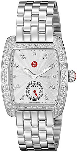 Mini Diamond Watch Urban (MICHELE Women's MWW02A000508 Urban Mini Analog Display Swiss Quartz Silver Watch)