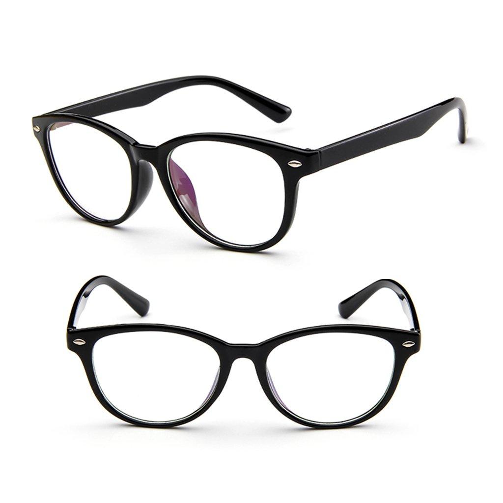 3baa0137c1 Amazon.com  Misright Retro Eyeglasses Frame Full-Rim Men Women Vintage  Glasses Eyewear Clear Lens New (Bright Black)  Health   Personal Care