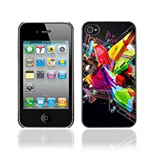 Designer Depo Hard Protection Case for Apple iPhone 4 4S / Abstract Colorful & Cool Design