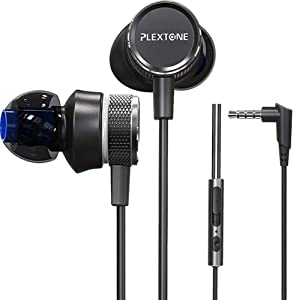 Gaming Earphones,Pasuwisma Earbuds Wired Stereo Bass in-Ear Headphones E-Sport Noise Cancelling Compatible with Mic, HiFi with Extension Cable and Adapter for PC, Laptop and Cellphones.