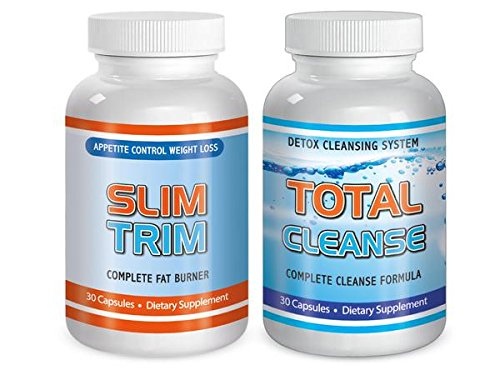 Slimax Total Slim Trim Cleanse Diet Kit Detox Maximum Diet Rapid Weight Loss Fat Burn System All Natura by SliMaxUSA