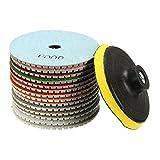 15pcs 4 Inch 30-6000 Grit Diamond Polishing Disc with M14 Self-adhesive
