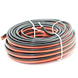 16AWG Electrical wire 2 Conductor parallel wire 66ft [Black 33ft Red 33ft] 20M Extension Cable Wire Cord 16 Gauge Hook Up wire oxygen free Strands Tinned copper Soft and Flexible