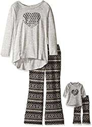 Knit Tunic with Sequin Flare Legging