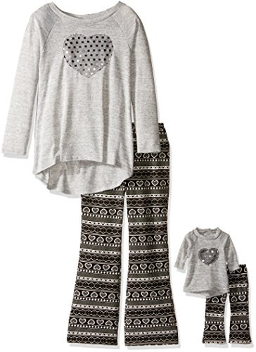 Heart Big Girls Sequin Tunic Legging Set