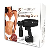 Pure Bronze – Spray Tan Bronzing Gun | First Ever Hoseless, Wireless, Rechargeable Spray Tan Machine | Quick & Easy Setup, Portable, Travel Ready Design | 4 Bottles of Premium Spray Tan Solution