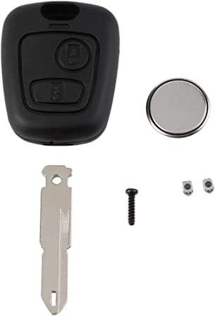 Peugeot Keyless Remote Entry Keyfob 2 Button Transmitter Shell Replacement