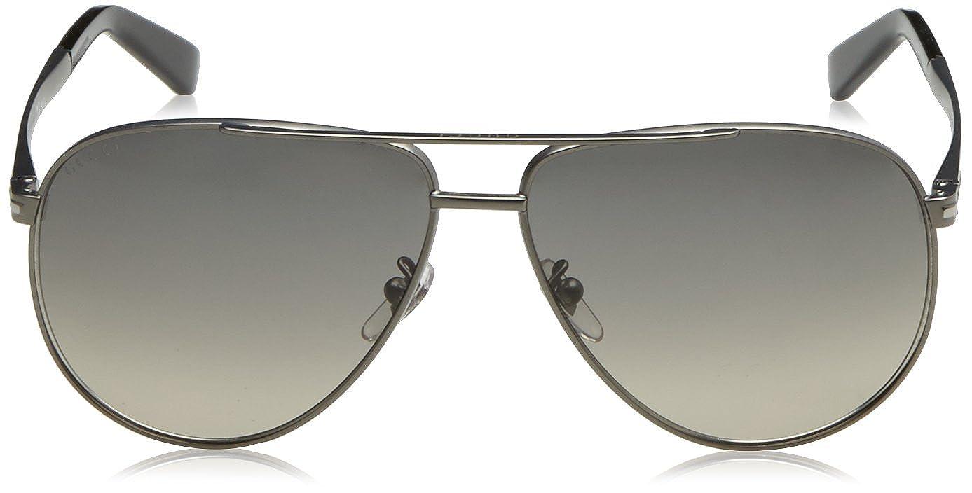 23358ede959cb Amazon.com  Gucci GG 2269 S R80DX (Matt Silver with Black Gradient lenses)   Clothing