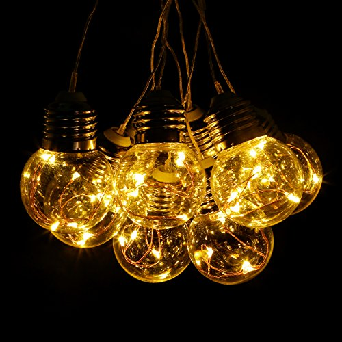 Copper Globe String Lights : LE 20ft LED Globe Copper Wire String Lights 25 Units G45 Bulbs - Import It All