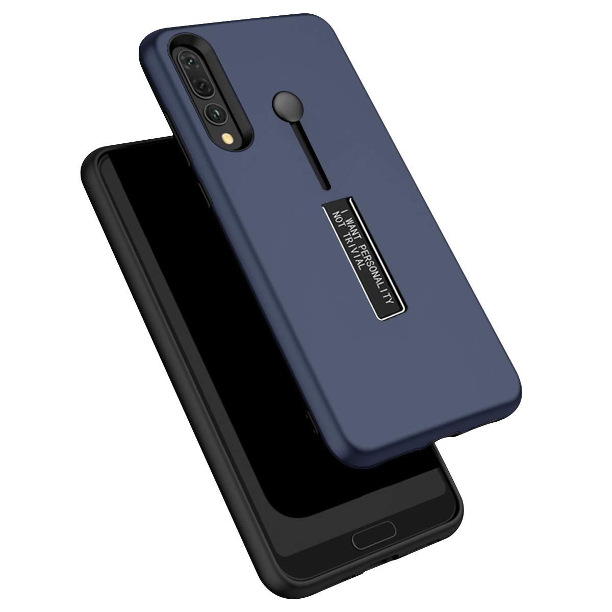 WIWJ Huawei P20 Pro H/ülle Case PC Backcover+TPU Silikon Mit Halterung und Ring Funktion Handy Schutzh/ülle Schutz Cover Schale Handyh/ülle f/ür Huawei P20 Pro-Schwarz