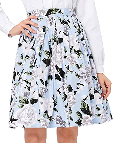 Casual Vintage Midi Skirt for Women A-Line Size XL CL6294-13