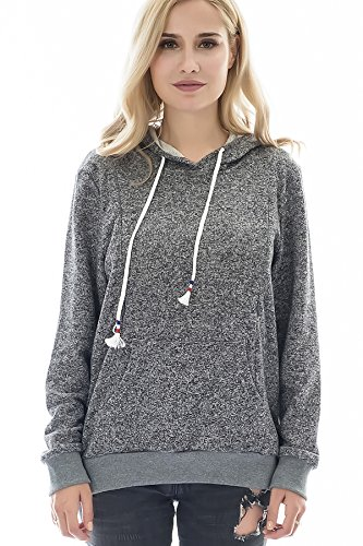 Bearsland Women's Maternity Winter Sporty Hoodie Breastfeedi