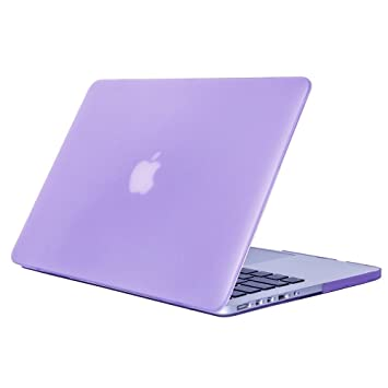 DETUOSI MacBook Pro 15 Retina Carcasa, Funda Carcasa de Protector para Apple MacBook Pro 15 Retina Pulgadas Hard Case Cover,Morado